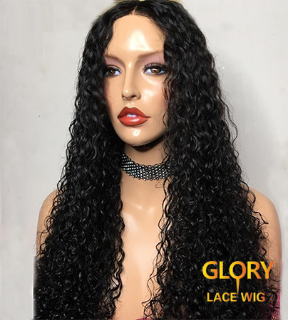 Brazilian Kinky Curly Glueless Full Lace Wigs For Black Women 24inch 180% Density