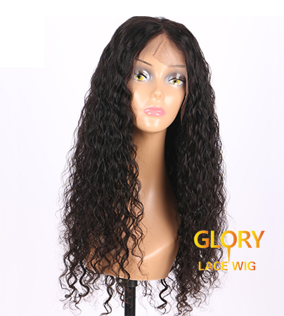 Glueless Full Lace Wigs Peruvian Kinky Curly human hair wig 22inch