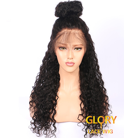 Human Hair Deep Curly Full Lace Wigs Pre Plucked Hairline 22inch