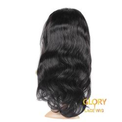 100% Human Hair Body Wave 360 Lace Good Quality Wigs For Black Women 20inch