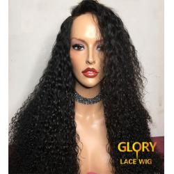 150% Density Malaysian Virgin Hair Best Glueless Kinky Curly Lace Front Wigs 24inch