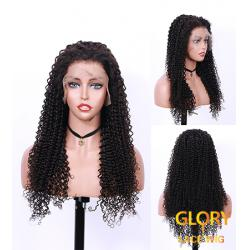 Wholesale Afro Curly Lace Front Human Hair Wigs Pre Plucked Hairline 24inch