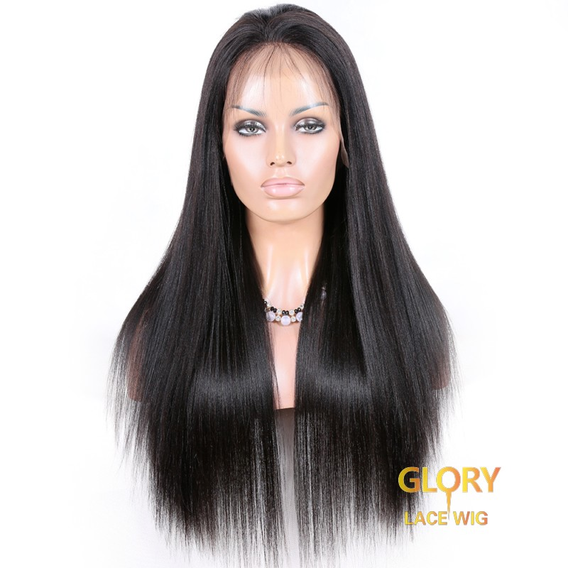Malaysian Virgin Hair Straight Glueless Full Lace Wigs 18inch