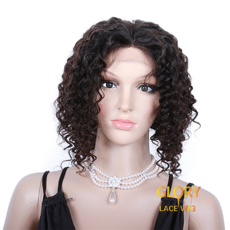 Best Brazilian Virgin Hair Afro Curly 360 Lace Wigs For Black Women 12inch