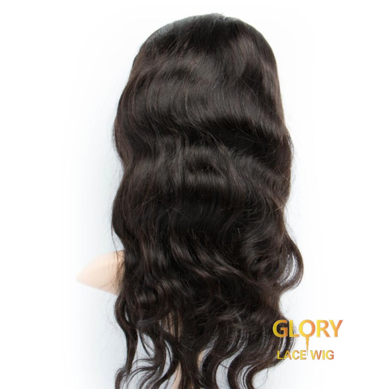 Brazilian Human Hair Glueless Body Wave Lace Front Wigs 14inch