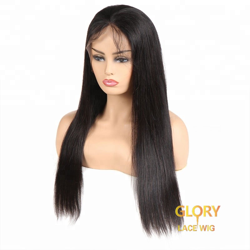 Chinese Virgin Hair Straight Glueless Full Lace Wigs For Black Women 22inch