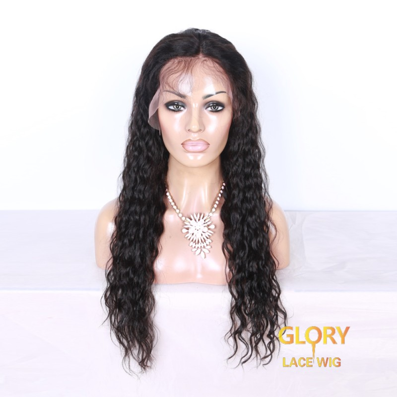 Wholesale Indian Glueless Full Lace Deep Curly Human Hair Wigs 22inch