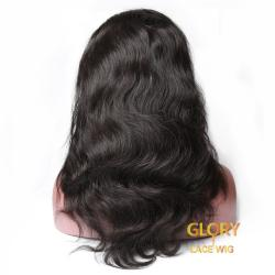 180% Density Human Hair Body Wave 360 Lace Wigs With Baby Hair 18inch