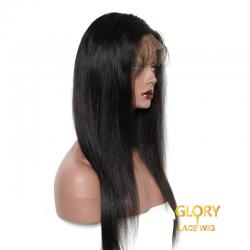 Human Hair With Baby Hair Glueless Straight 360 Lace Wigs 20inch