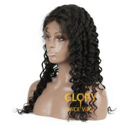 Wholesale Cheap Deep Curly Brazilian Human Hair 360 Lace Wigs Pre Plucked Hairline 22inch