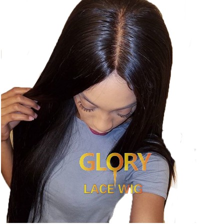 Deep Part Straight Malaysian Human Hair Lace Front Wigs Preplucked With Baby Hair Remy Frontal Closure Wig 18inch