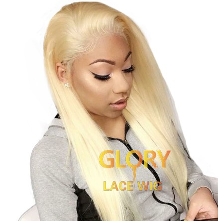 20inch 613 Blonde Straight Peruvian Full Lace Wigs For Black Women