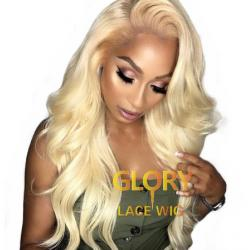 Beautiful 613 Blonde Brazilian Human Hair Body Wave Full Lace Wigs 20inch