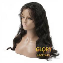 Cheap Good Quality Malaysian Human Hair 360 Lace Wigs Pre Plucked Hairline 20inch