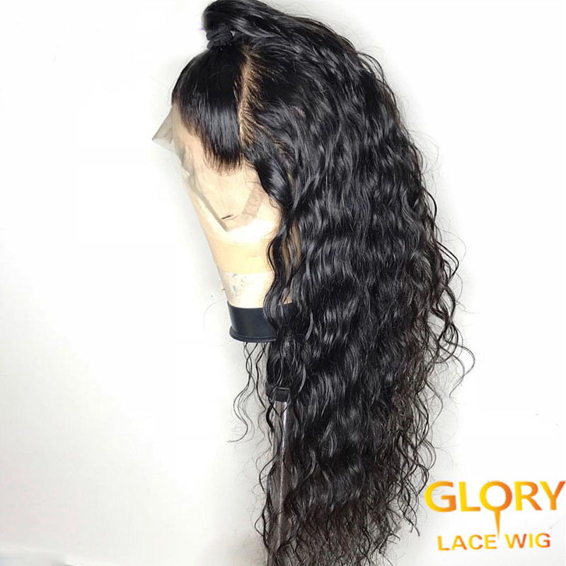Cheap Loose Deep Wave Malaysian Virgin Hair Full Lace Wigs 20inch 130% Density