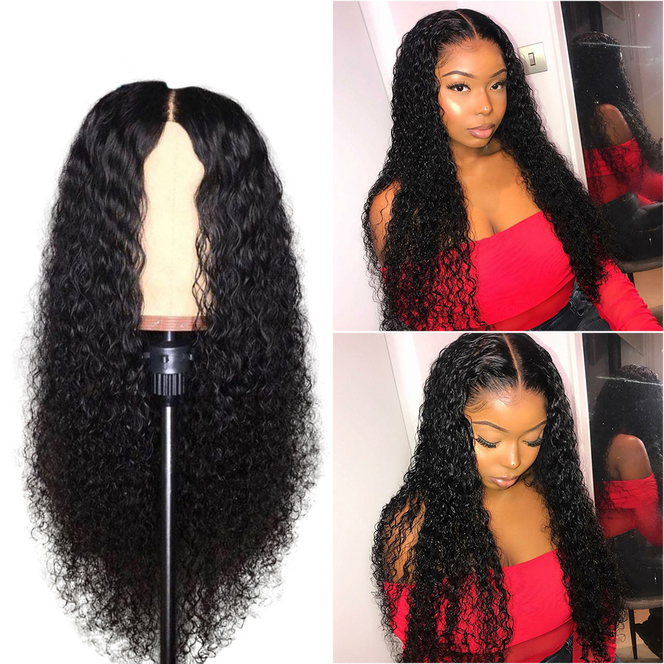 22inch 180% Density Glueless Brazilian Virgin Hair Deep Curly Full Lace Wigs For Black Women