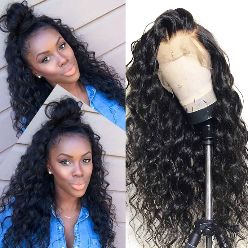 Wholesale Malaysian Virgin Hair Loose Wave 360 Lace Wigs 22inch