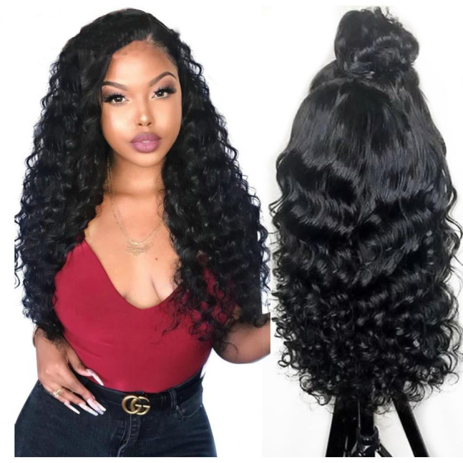 250% Density 13x6 Lace Front Loose Wave Lace Front Wig Human Hair Wig