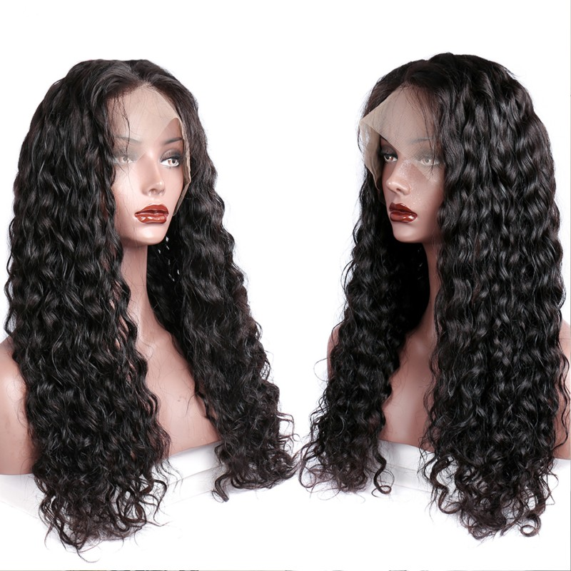 Deep Wave 360 Lace Wigs For Black Women 20inch
