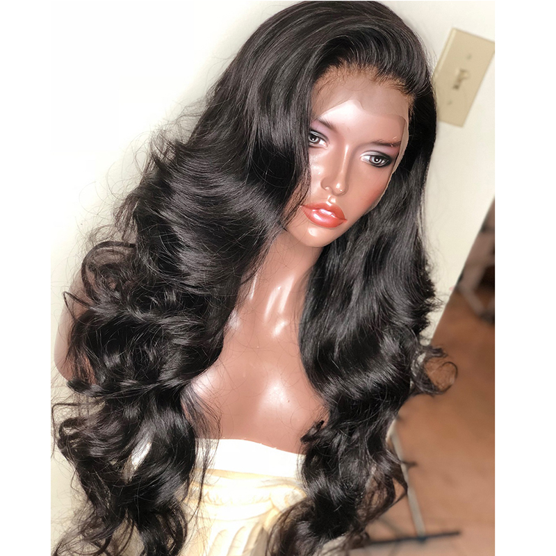 Glueless Full Lace Wig Body Wave Mongolian Virgin Hair 18inch