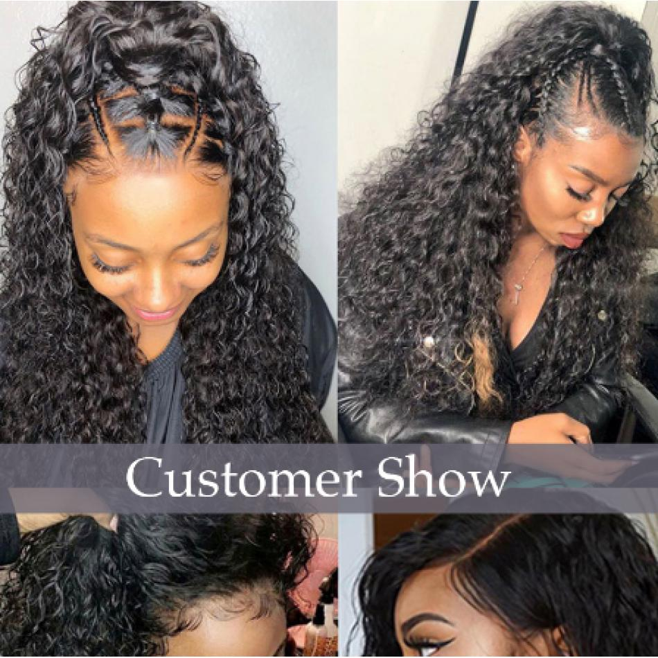 Deep Curly 360 Lace Wigs Pre Plucked Hairline 20inch