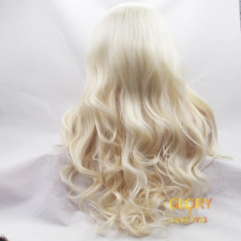 150% density Blonde Deep Wave Full Lace Wigs Pre Plucked Hairline 22inch