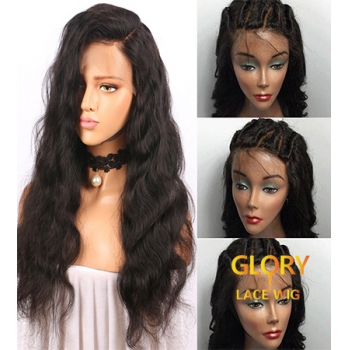 Body Wave Malaysian Virgin Hair Glueless Full Lace Wigs For Black Women 22inch