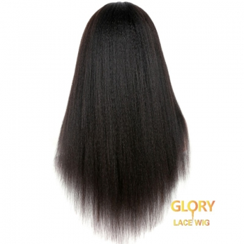 Brazilian Kinky Straight 360 Lace Frontal Wig With Baby Hair 20inch 150% Density