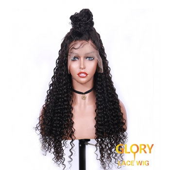 Cheap Afro Curly Brazilian Full Lace Wigs Pre Plucked Hairline 22inch
