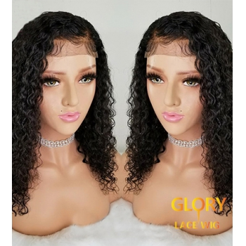 Malaysian Virgin Hair Glueless Kinky Curly Full Lace Wigs Pre Plucked Hairline 20inch
